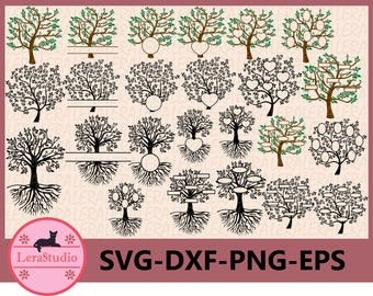 60 % OFF, Family Tree SVG, Tree SVG Cut Files, Tree Monogram Svg, dxf, eps, png, Family Tree Silhouette, Digital Files, Family Tree Clipart