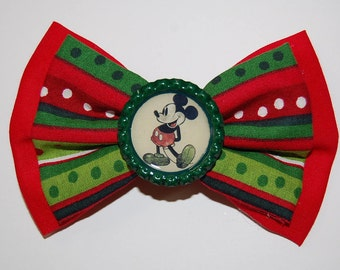 Christmas Mickey Mouse Inspired Disney Bow