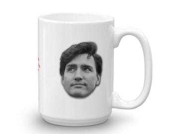 Justin Trudeau Customizable Coffee Mug – Extra Large 15oz, Ceramic