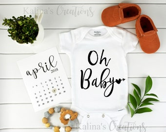 Oh Baby Onesie / Baby Announcement