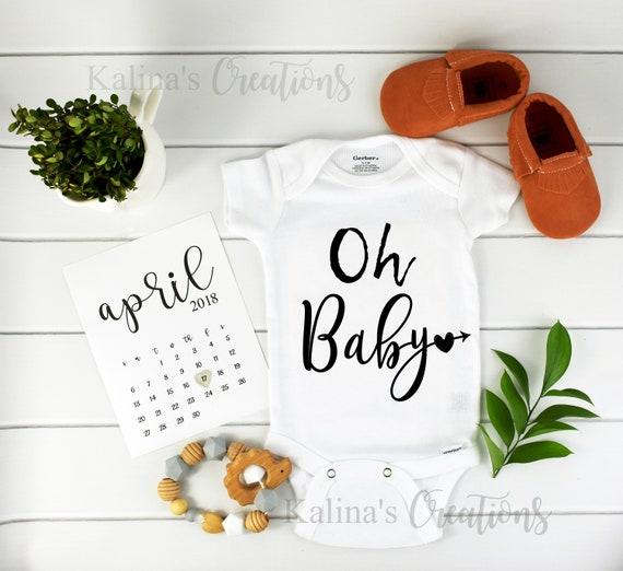 Oh Baby Onesie / Baby Announcement