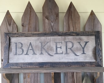 Hand crafted, farm house look, rustic, Bakery sign, bakery wall decor sign