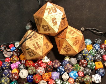 D20 Dice Case - Small Size - Holds 2 full 7 die sets in a necklace box (Perfect Gamer Gift for the rpg player)