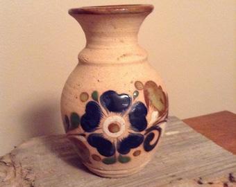 Vintage Tonala Handpainted Vase