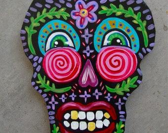 Whimsical Folk Art Skull