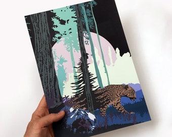 Leopard night print