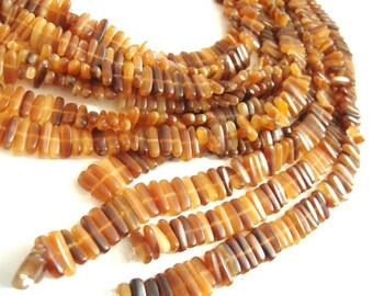 40 Perles bâtonnets en corne naturelle 15mm