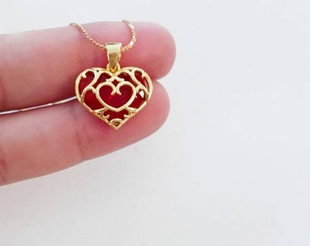 Sterling Silver heart container from the Legend of Zelda