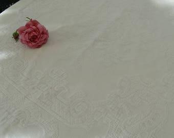 Boutis Antique French, Antique Old Spade, Old Spade Provencal Origin  France, Spade Tablecloth.