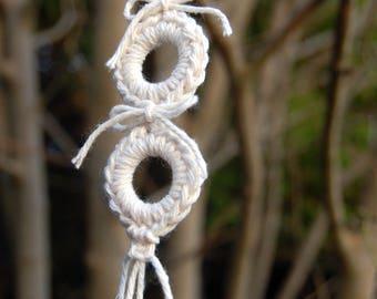 Three Ring Macrame Hanger. Macrame Decoration