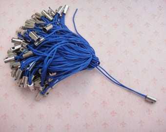 Set of 20 blue phone strap color ties