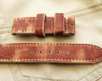 22mm Handmade Leather Watch Strap for Seiko diver SKX007 SKX009 6309 SKX031