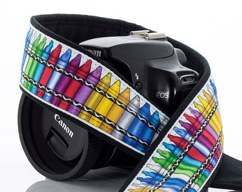 Crayons Camera Strap, dSLR, SLR, Colorful, Available in two lengths, Pocket, 199 w