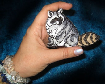 Cute Raccoon Racoon Iron on Patch