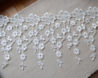 off white lace trim, venise lace trim, vintage lace, cascading lace, vintage bridal lace, jewelry lace, necklace lace