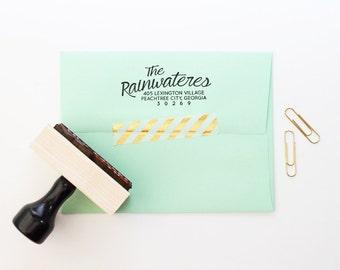 Return Address Stamp Wedding Invitation Stamp Rubber Stamp Calligraphy Address Label Personalized Stamp Custom Stamp Save the Date Stamp