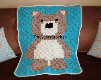 Bear blanket. Crochet Bear blanket. Bear crib blanket. Teddy Bear blanket. Teddy Bear toddler blanket. Handmade Bear blanket. Bear.
