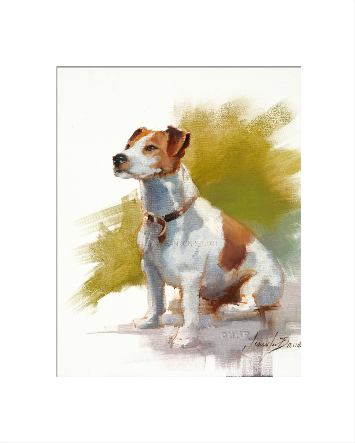 Jack Russel Dog Art - Matted Print of Original Oil Painting - Dogs ...