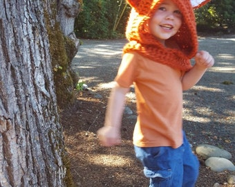 Sly Fox Hood: Fox Costume, Toddler Costume, Hooded Scarf, Cowl, Hood Costume, Montessori, Confidence Hoods, Character, Social Skills, Clever