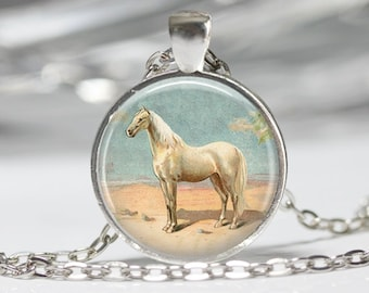 Horse Necklace Pendant Wearable Art Horse Jewelry