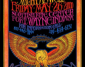 Mickey Hart Band Rock and Roll Concert Poster
