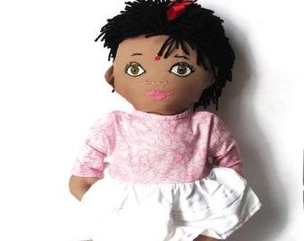 Custom New Baby Rag Doll - India, Sri Lanka, Boy or Girl With 2 Outfits - Custom