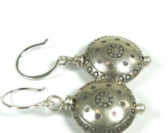 Hill Tribe Fine Silver Earrings