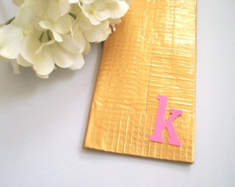 Duct Tape Wallet PERSONALIZED Duck Tape Wallet GOLD and PINK