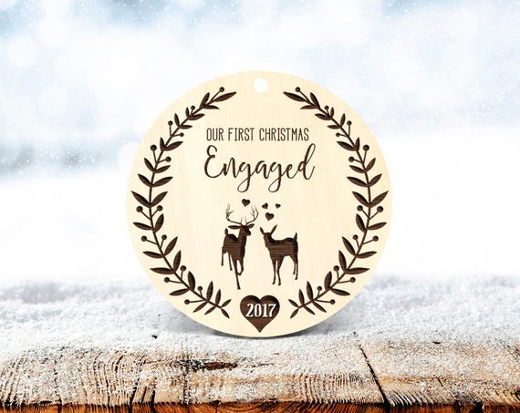 Our First Christmas Engaged Ornament Engagement Ornament Personalized Wedding Ornament Engaged Christmas Ornament 1st Engaged Christmas 51