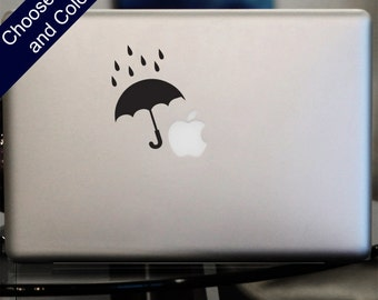 Umbrella Rain Drops Decal - Sticker for Laptop, Car