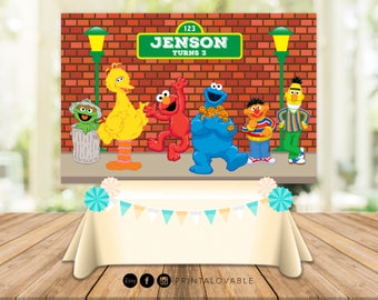 PRINT IT YOURSELF Sesame Street Backdrop Banner Birthday Printables