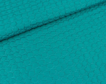 Quilted fabric circles Turquoise (14.50 EUR / meter)