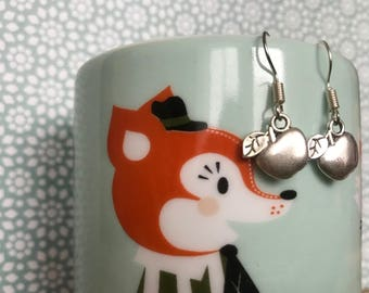 Stud Earrings - my Apple - handmade