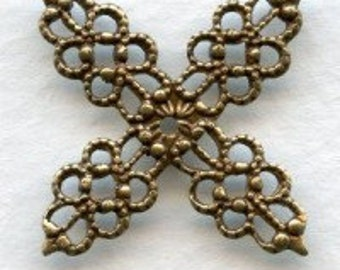 LuxeOrnaments Oxidized Brass Filigree Wrap Flower 20mm (2 pcs) B588X-VJS S-9375