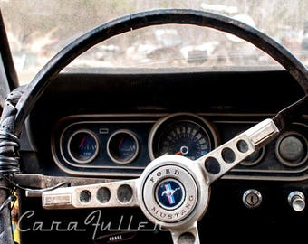 1966 Ford Mustang Steering Wheel Photograph