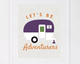 Adventurers Camper, Digital Art Print