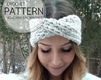 CROCHET PATTERN Ashlynn Ear Warmer | Turban Twist Headband | Easy Crochet Pattern | Headband Pattern | Ear Warmer Pattern | Instant Download