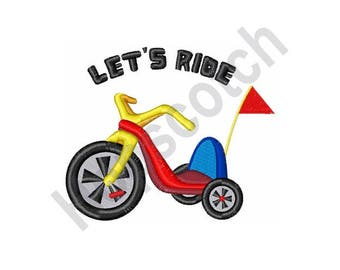 Big Wheel Tricycle - Machine Embroidery Design