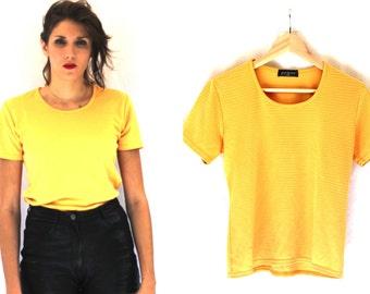 Vintage clothing - Tshirt short sleeves yellow