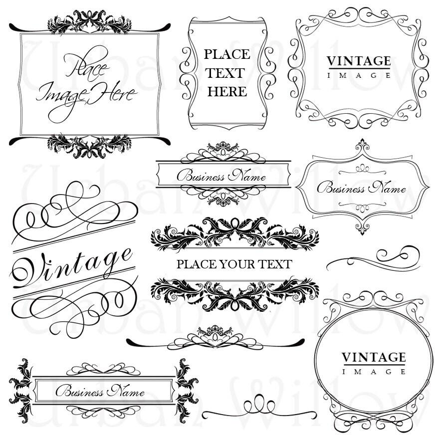 vintage frame design png. 🔎zoom vintage frame design png b