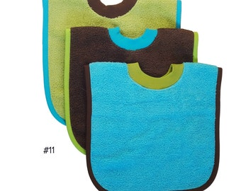 Pullover Baby to Toddler Bibs -- Set of Three -- Set 11