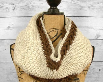 Banded Arrow Infinity Scarf / Crochet Infinity Scarf Pattern / Girl / Toddler / Child / Teen / Adult / Women