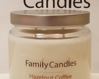 Family Candles - Hazelnut Coffee 16 oz Double Wicked Soy Candle