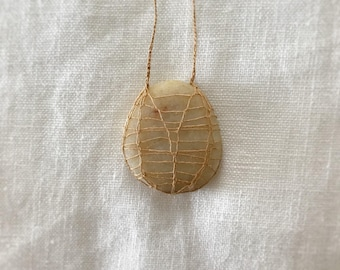 silk and stone necklace