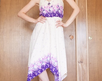 Cream and Lavender floral dress