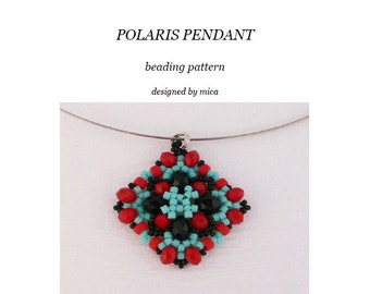 Polaris Pendant - Beading Pattern/Tutorial - pdf file for personal use only