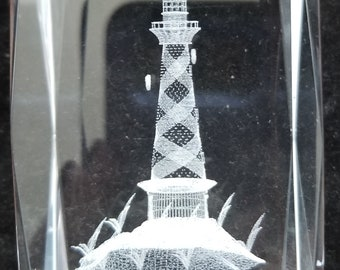 3D Laser Crystal Collection Lighthouse