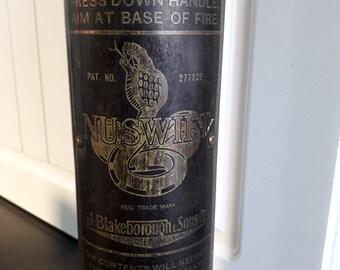 Vintage 1950s NUSWIFT Copper & Brass Fire Extinguisher