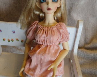 MSD BJD  Chemise and Bloomer Peach