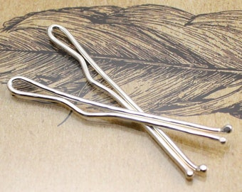Pair of Sterling Silver Bobby Pins